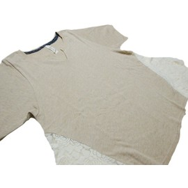 SUPER HAKKA「ローズレース付きカットソー半袖プルオーバー」(FREE)