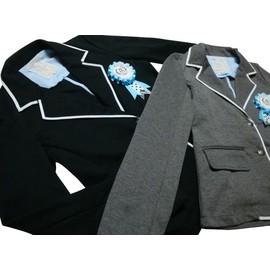 ラブトキシック「lリボンブローチ付きカットソーテーラードジャケット」(150-160cm)