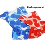 Wonder apartment「天竺ドットPt裾フリルチュニック」(80-150cm)
