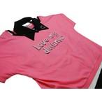 ディアブル「つけ衿付きボーダータンクトップ+半袖Tシャツ」(150-160cm)