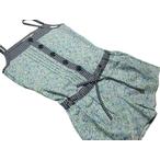 ディアブル「ツイル小花Ptショートオール」(150-160cm)