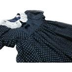 メゾピアノ「シフォンドットPtレース衿半袖ワンピース」120cm