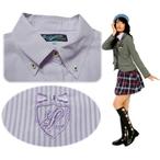リンジィ「ボタンダウンストライプシャツ」(150-160cm)