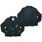 リンジィ「エンブレム刺しゅう入りレジメンタルテーラードジャケット」(150-160cm)